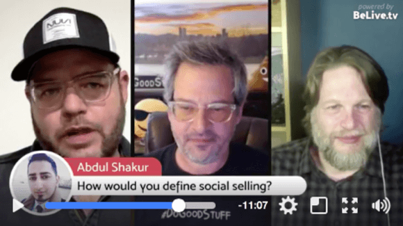 BeLive is great for a Facebook Live interview show because it allows you to show a split screen and include Facebook comments on-screen with the click of a button.