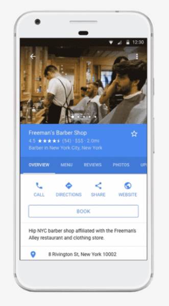 Google adds direct booking feature to Google Maps and Search.