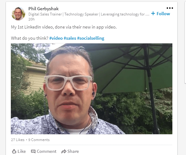 LinkedIn is testing the ability to natively upload videos that automatically play in the feed.