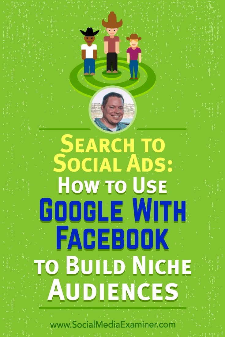 Search to Social Ads: How to Use Google With Facebook to Build Niche Audiences featuring insights from Shane Sams on the Social Media Marketing Podcast.