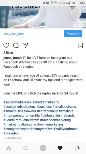 Promote Instagram live videos and their replays to your audience to get more viewers.