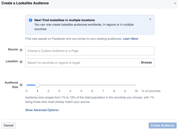 Facebook Ads Manager allows you to create a lookalike audience that is similar to an audience who has already interacted with your business.