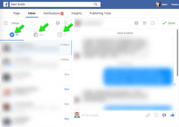 The new Messenger, Facebook, and Instagram unified inbox on desktop makes it much easier to manage audience messages.