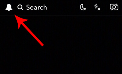 Tap the ghost icon at the top left of the Snapchat camera screen.