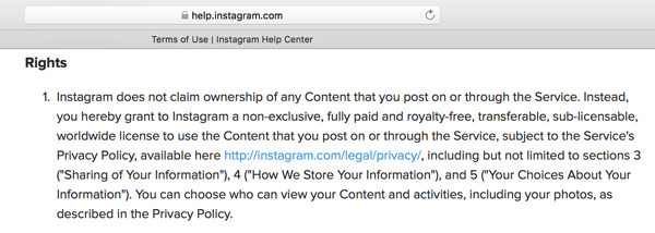 Instagrams Terms Of Use Outline The License Youre Granting To Platform For Your