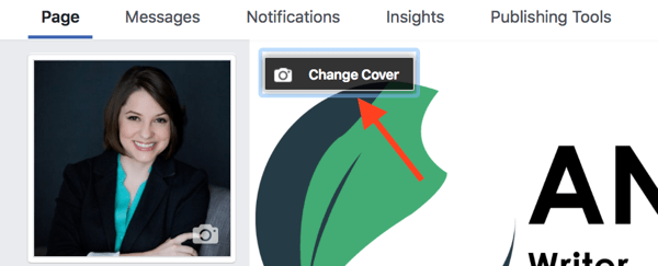 You can choose a video as your cover image the same way you'd add a new cover photo.