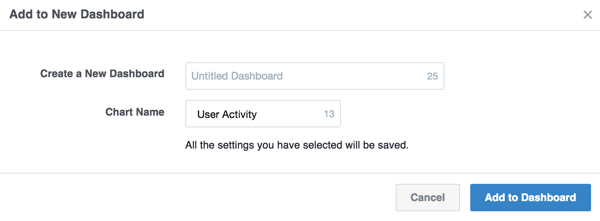 Create a new custom dashboard or select an existing one.