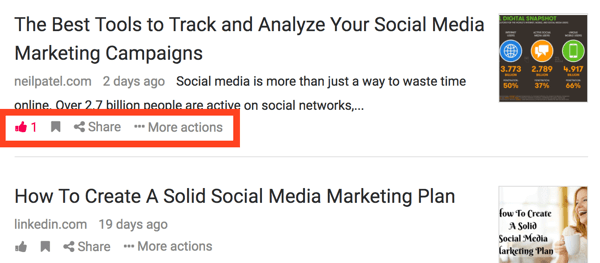 Click the Share button to share an article on social media.