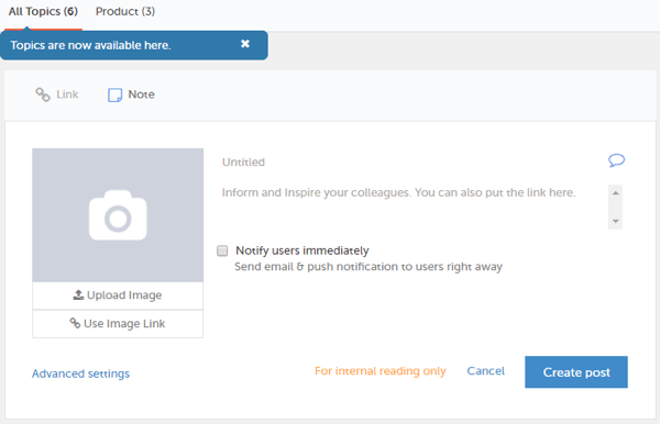 Smarp lets admins push content to your team's news feed, where they can view and share it.