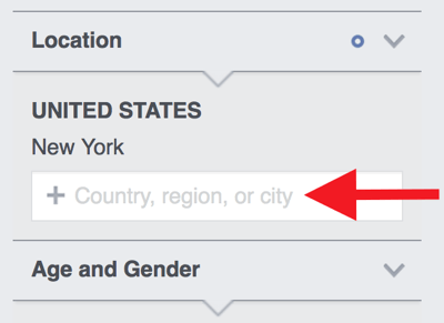 Enter the country and region(s) where your target audience is based.