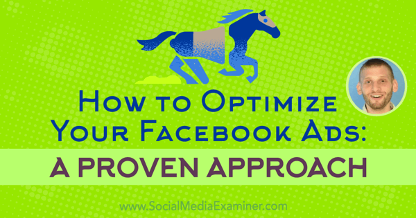 How to Optimize Your Facebook Ads: A Proven Approach featuring insights from Azriel Ratz on the Social Media Marketing Podcast.