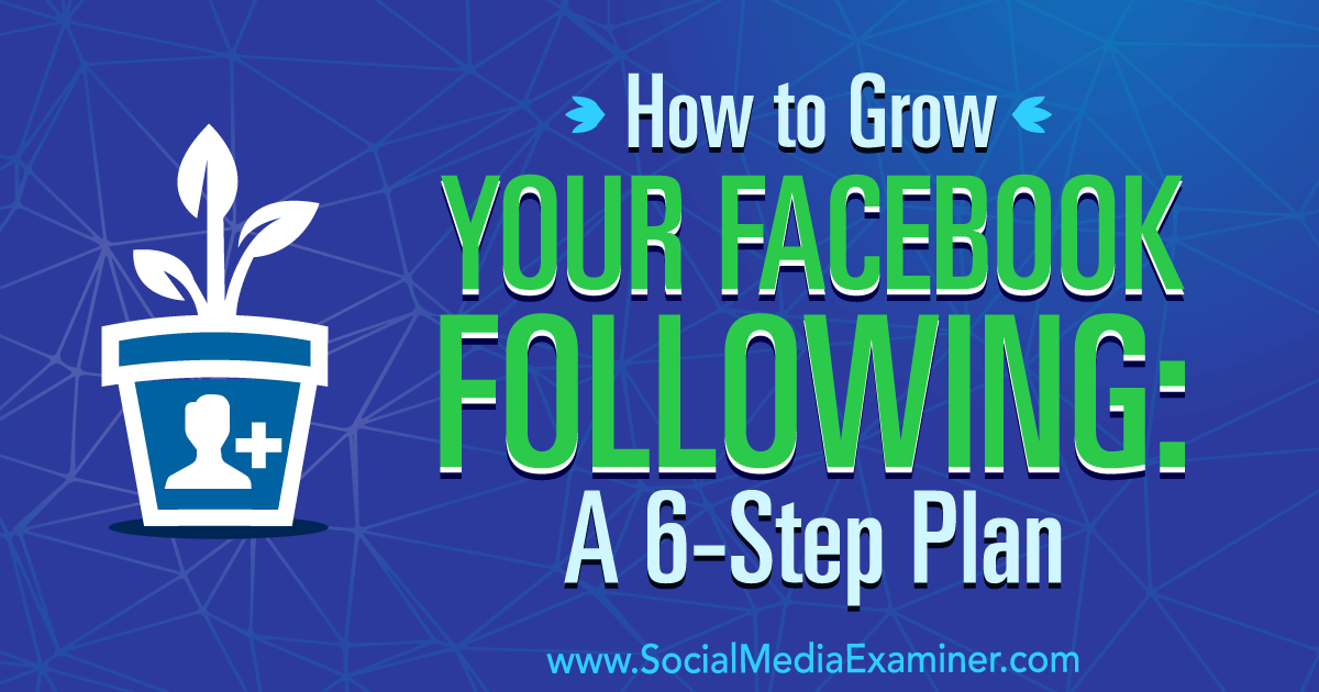 How to Grow Your Facebook Following: A 6-Step Plan