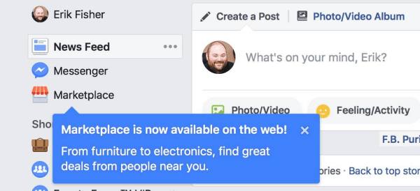 Facebook Marketplace is now available on the desktop.