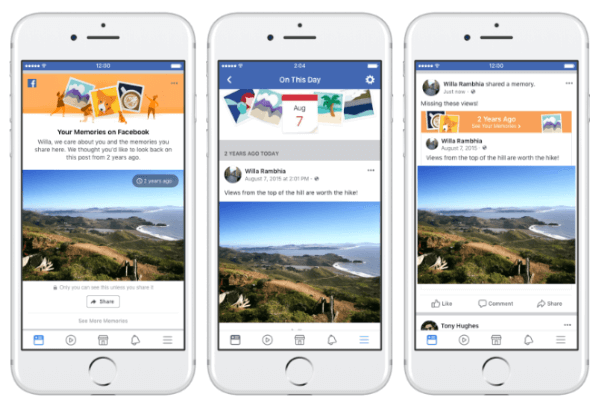Facebook announces new ways to share memories with friends.