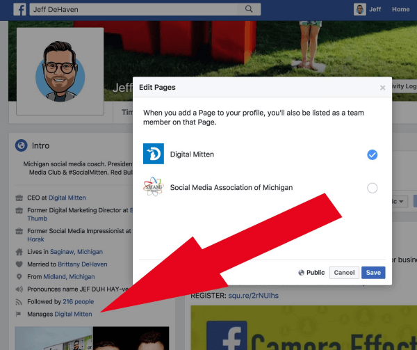 Facebook Page Admins can now link the Pages they manage to their personal profile.