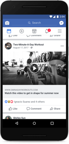 Facebook demotes posts featuring fake video play buttons and videos of only a static image.