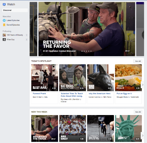 The new Facebook Watch Tab is rolling out to mobile and desktop.