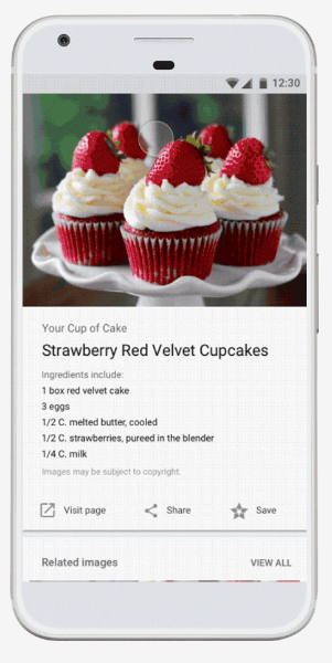 Google updates image search engine for recipes, products, and more.