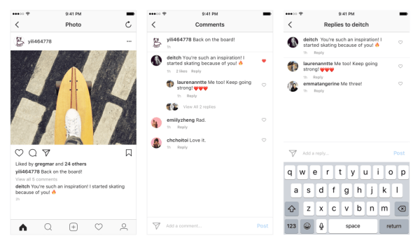 Instagram will roll out threaded comments on iOS and Android over the coming weeks.
