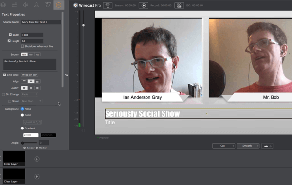 Wirecast is a professional tool for managing Facebook Live broadcasts on desktop.