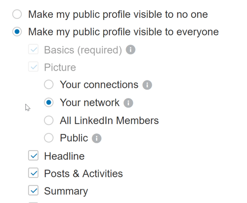 Make sure your LinkedIn profile settings allow anyone to see your public posts.