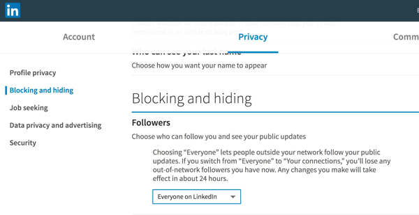 To enable your posts to be seen publicly, set the Followers drop-down to Everyone on LinkedIn.
