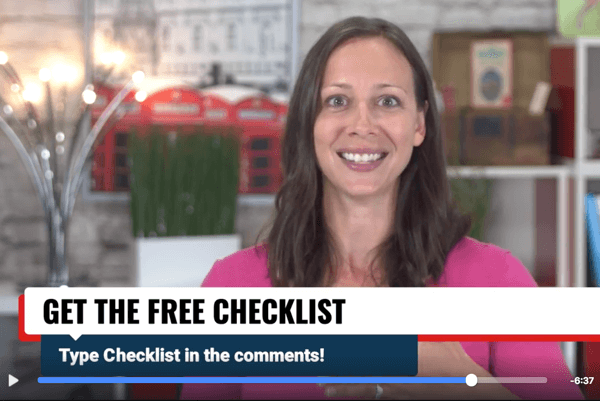 Ask Facebook Live viewers to type in a keyword to get your freebie via Messenger.