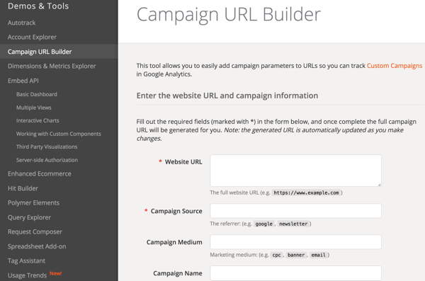Add UTM parameters to URLs so you can track your influencer campaigns in Google Analytics.