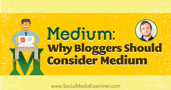 Medium: Why Bloggers Should Consider Publishing on Medium featuring insights from Dakota Shane on the Social Media Marketing Podcast.