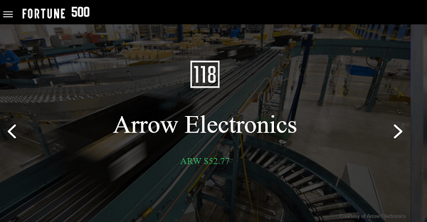Arrow sells electronics and owns more than 50 media properties.
