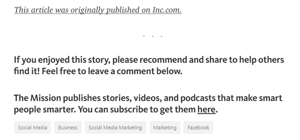 Add the link to the original post and a call to action to subscribe to your content at the bottom of your Medium articles.