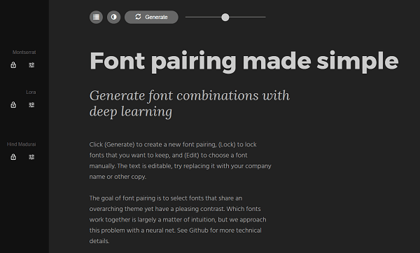 Find contrasts for your fonts with Fontjoy.com.