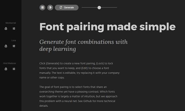 Encuentra contrastes para tus fuentes con Fontjoy.com.