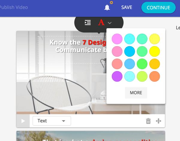 Apply color to emphasize keywords on your slide.