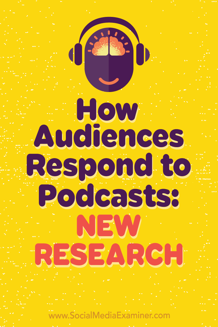 How Audiences Respond to Podcasts: New Research by Michelle Krasniak on Social Media Examiner.