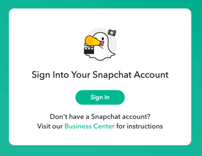 Sign in with your Snapchat login credentials.