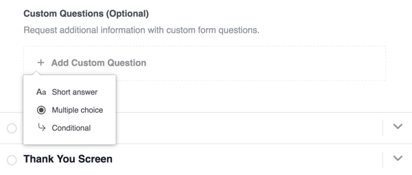 You can add a custom question to your lead form.