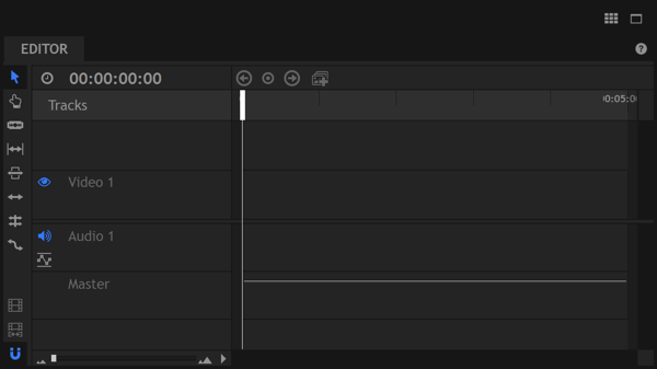 In HitFilm Express, you place video clips in order on the timeline.