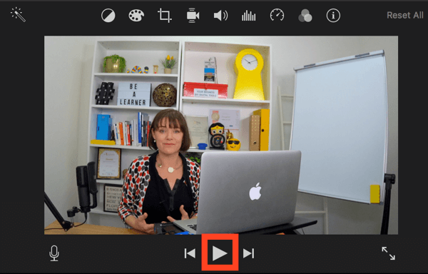 Click Play to preview your video in iMovie.