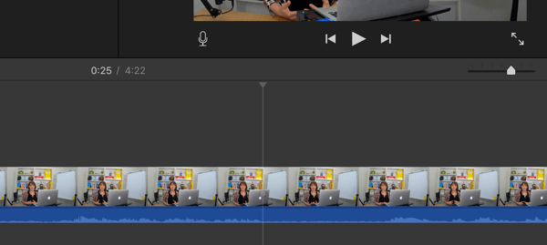 When you split your video into segments, find the spots where the audio turns into a flat line.