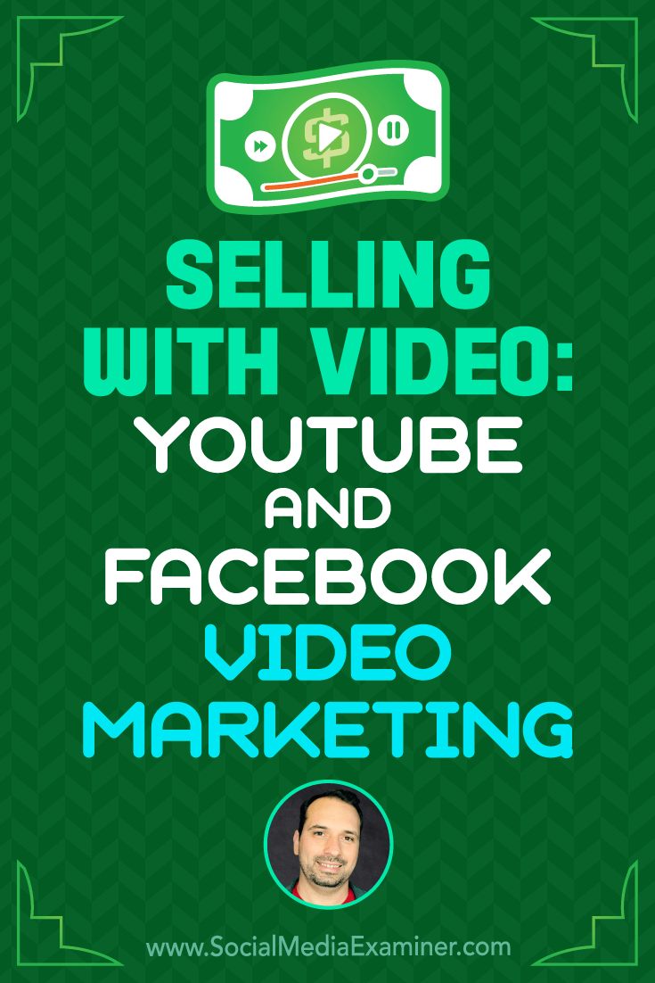 Selling With Video: YouTube and Facebook Video Marketing featuring Jeremy Vest on Social Media Examiner.
