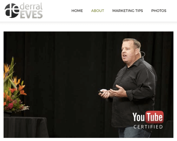 Derral's agency helps optimize his clients' lead-generation videos on Google.