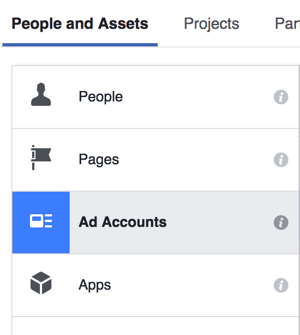 To set up an ad account in Business Manager, go to Business Settings and select Ad Accounts.