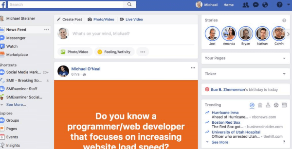 Facebook continues to expand Stories to more profiles being viewed on desktops.