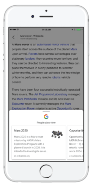 Google debuts new content discovery tool in the Google App for iOS.