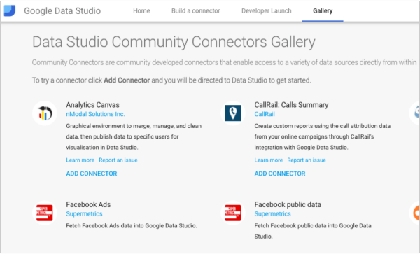 Google rolled out the Data Studio Community Connectors developer program, which allows users to visualize data from any source.