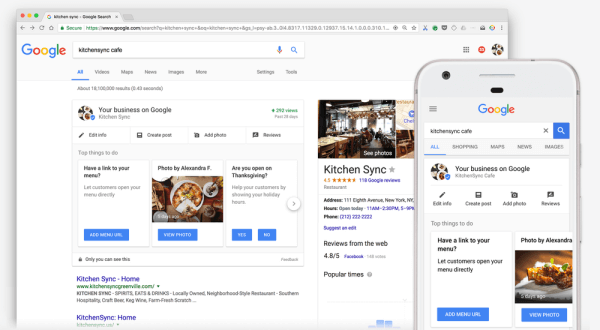 Google introduced a new simple, easy-to-access business dashboard in Search.