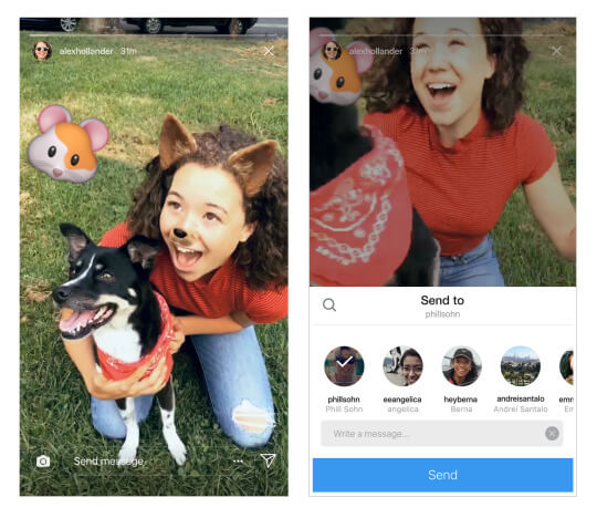 Instagram announced that users can now share Instagram Stories in Direct.