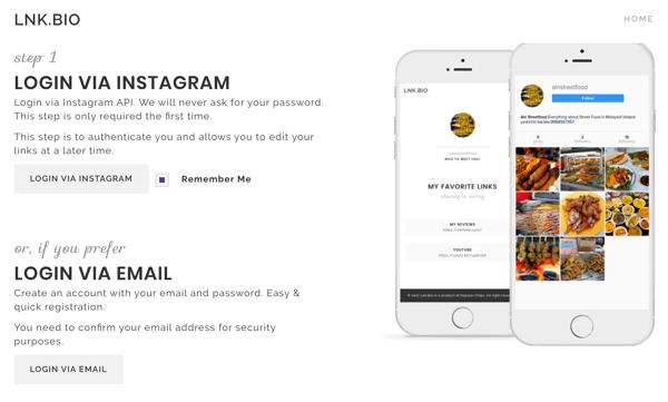 how to create links in instagram bio