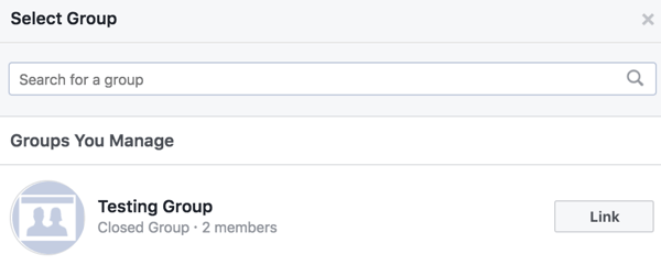 Link your Facebook group to other groups.